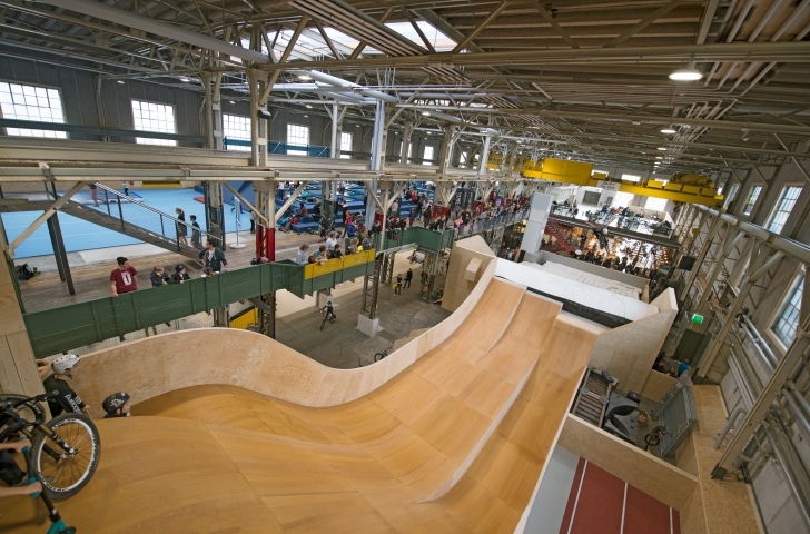 Big-Air-Sprunganlage im Skills Park Winterthur