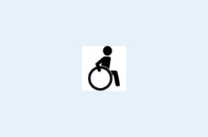 Pictogram of a wheelchair-user