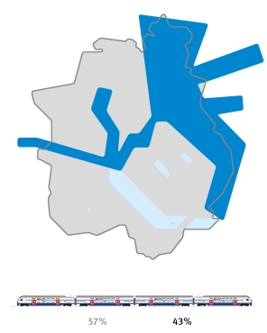 KCard showing where in the canton of Zurich stage 3 of the 4th partial expansions is located.