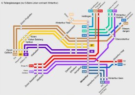 Chart of the S-Bahn offer after commencing operations of the 4. partial expansions. If you click on the graphic, you will see an enlarged image.